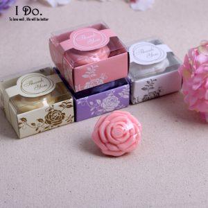 Sabonete de Rosa com embalagem de agradecimento