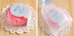 Esse sabonete é encantador ótimo para dar para madrinhas de casamento