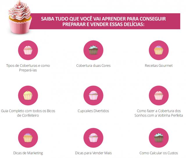 curso de cupcake grátis