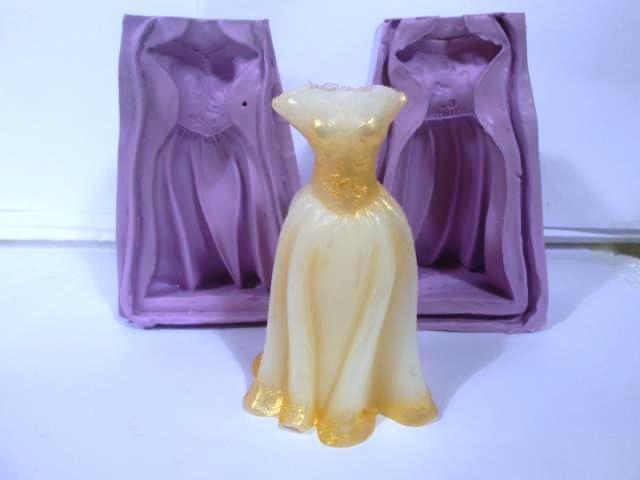 Forma de vestido de noiva para sabonete artesanal