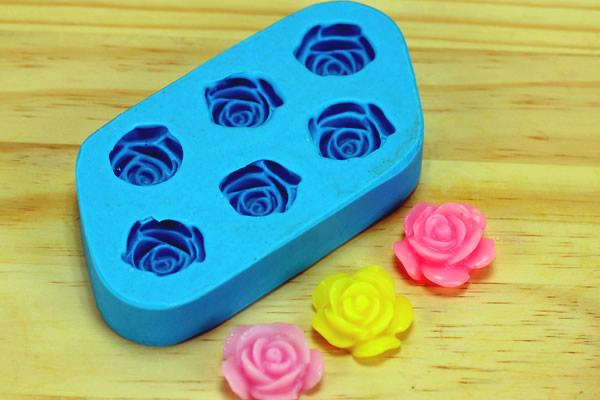 Forma de rosa para sabonete artesanal