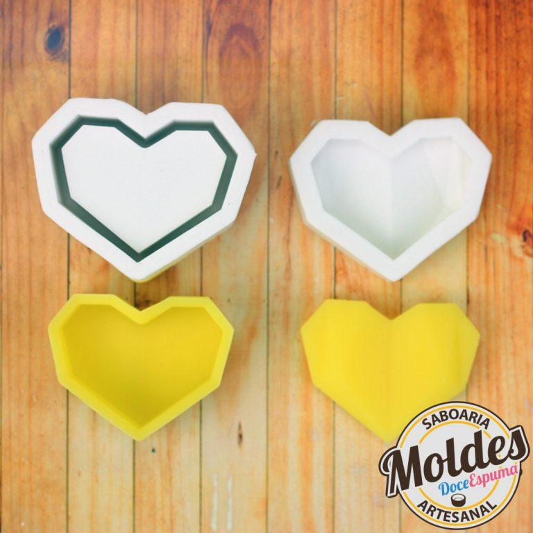 molde coração 3D