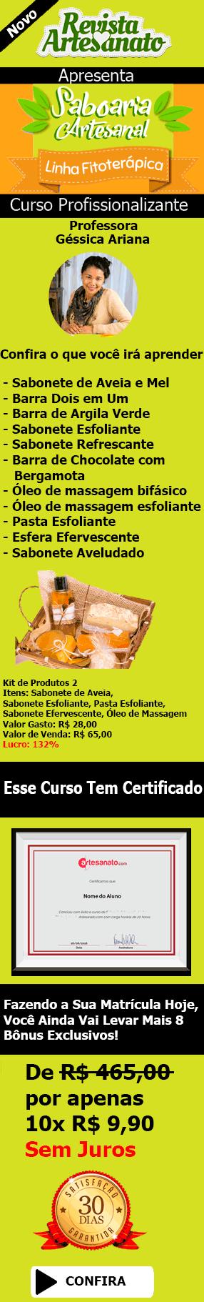 Curso Online Sabonete Artesanal