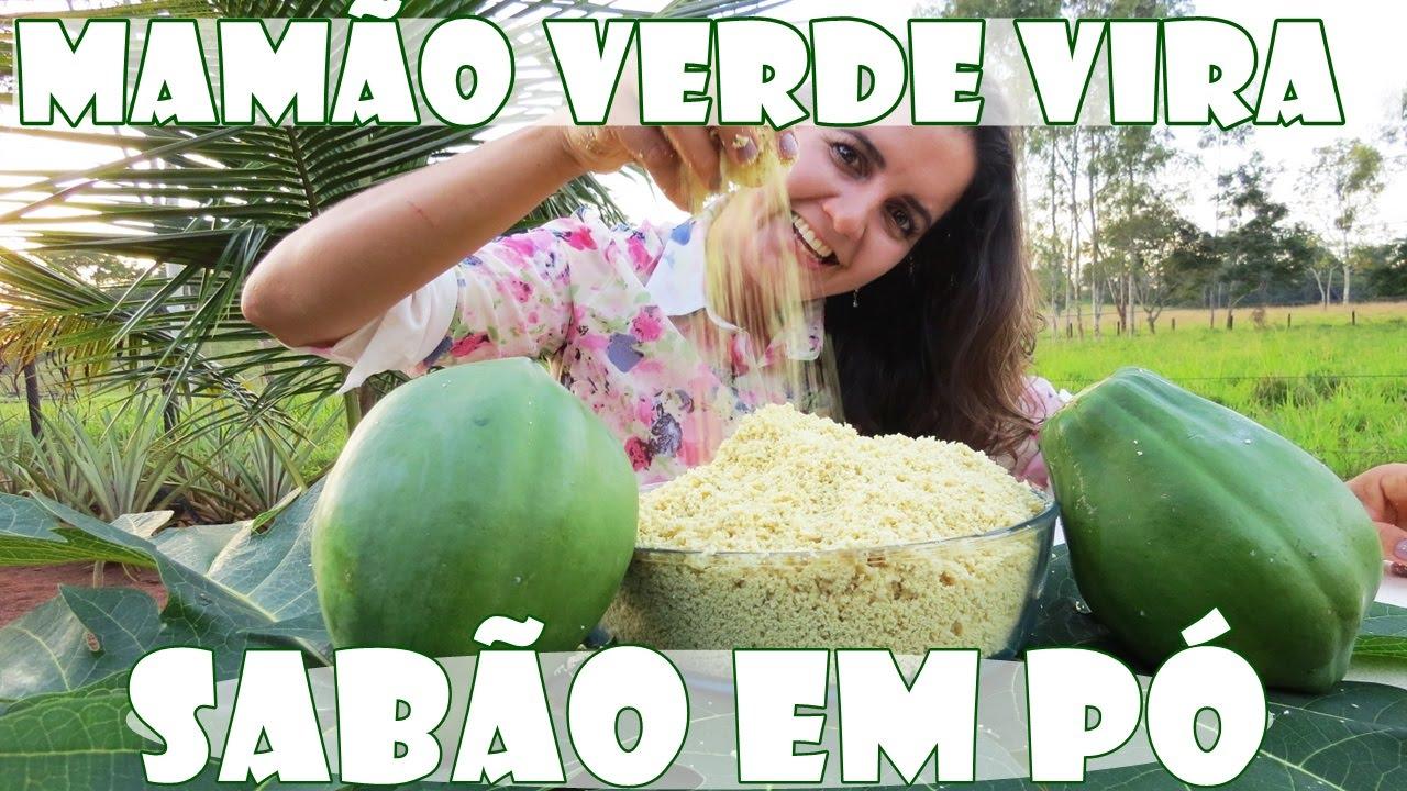 SABÃO EM PÓ DE MAMÃO VERDE