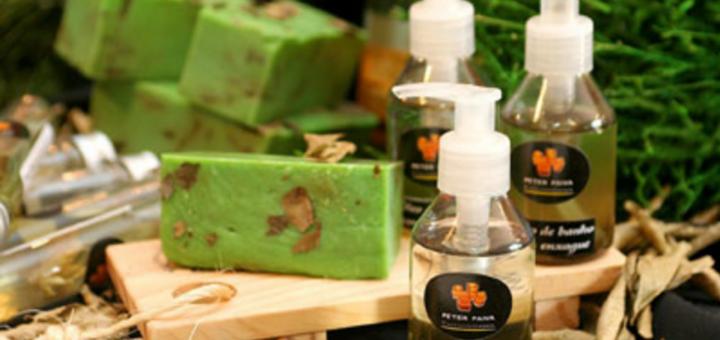 Óleo de chá verde para banho com enxágüe