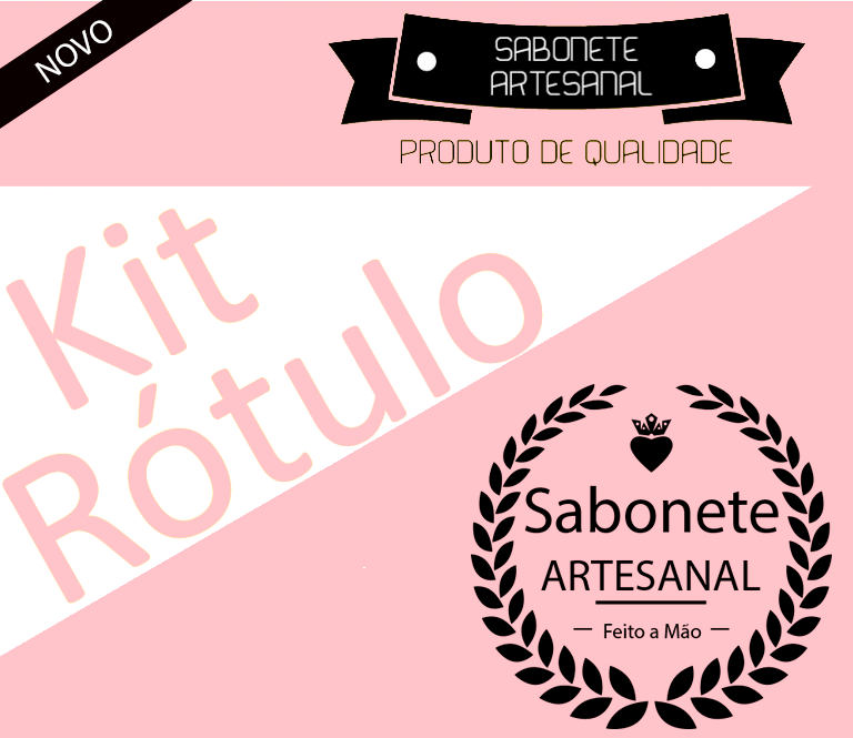 Rótulo para Sabonete Artesanal Rosa