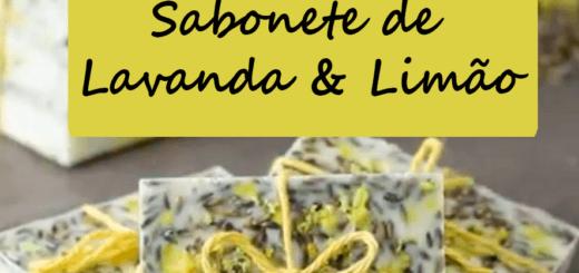 Sabonete artesanal Lavanda e Limão