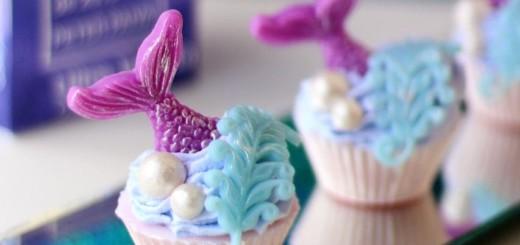 Cupcake Sereia de Sabonete