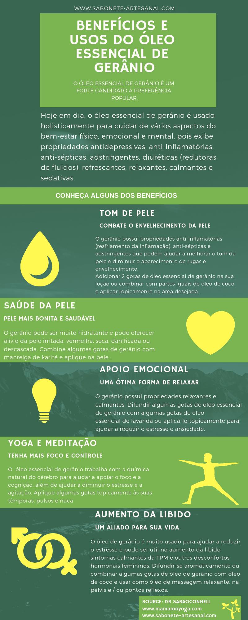 BENEFÍCIOS E USOS DO ÓLEO ESSENCIAL DE GERÂNIO