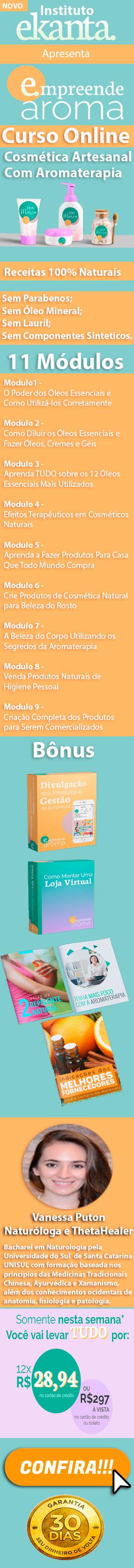Curso Cosmética Artesanal com Aromaterapia Online