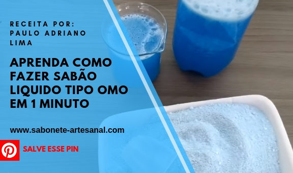 Aprenda Como Fazer Sabão Liquido Tipo OMO em 1 minuto Caseiro