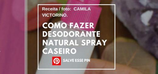 Como Fazer Desodorante Natural Spray Caseiro