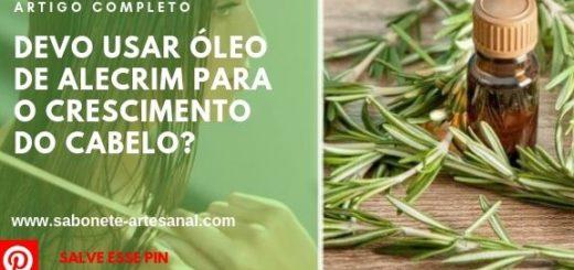 Devo usar óleo de alecrim para o crescimento do cabelo?