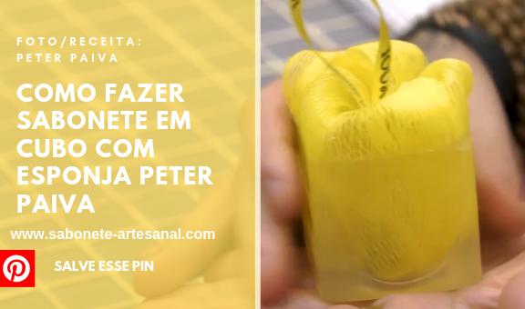 Como Fazer Sabonete em Cubo com Esponja Peter Paiva