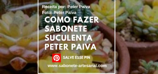 Como Fazer Sabonete Suculenta Peter Paiva
