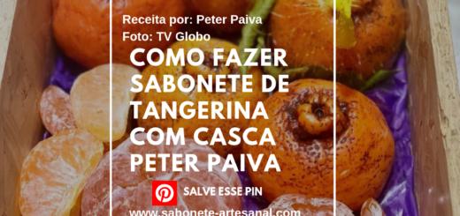 Como Fazer Sabonete de Tangerina Com Casca Peter Paiva