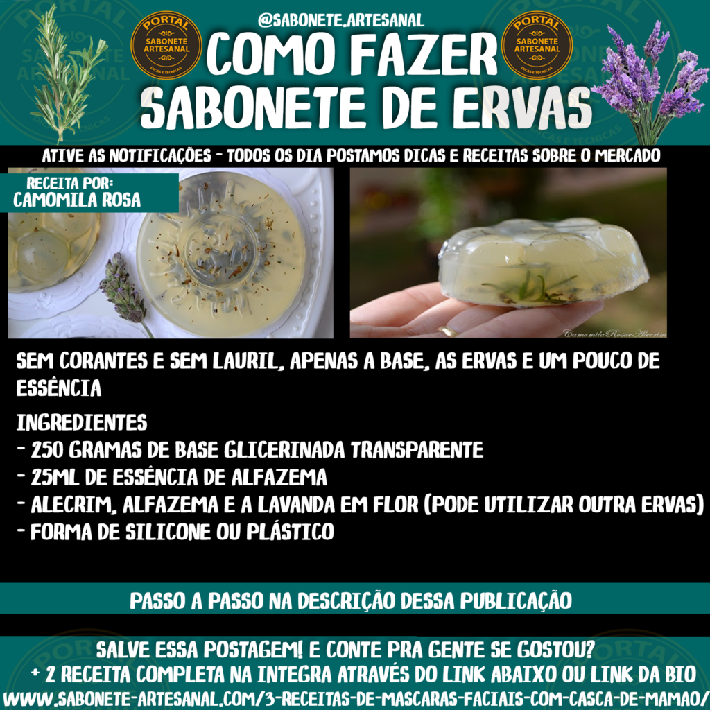 Como Fazer Sabonete com Ervas