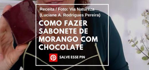 Como Fazer Sabonete de Morango com Chocolate