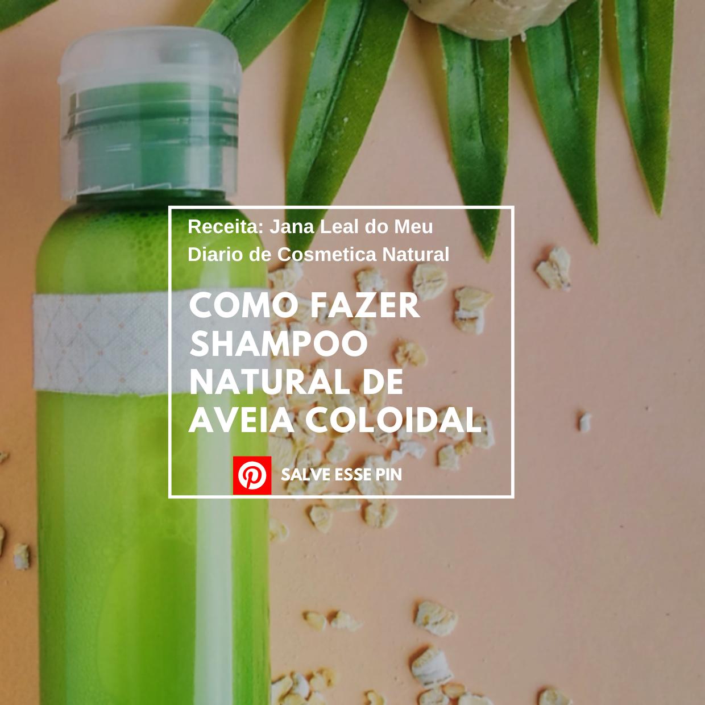 Como Fazer Shampoo Natural de aveia coloidal