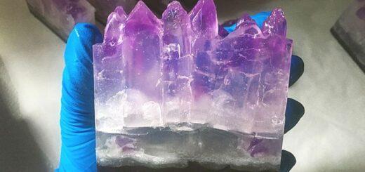 Como Fazer Barra de Sabonete de Cristal Ametista